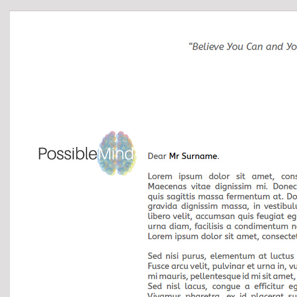 Possible Mind Letterhead